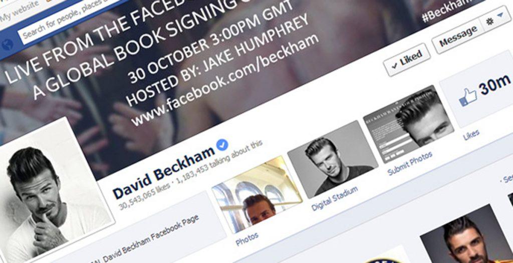 David Beckham's Facebook page