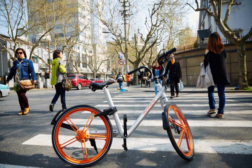 A Mobike smart bike