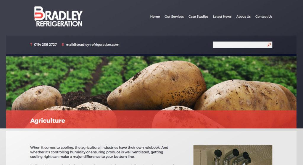 Bradley Refrigeration web copywriting