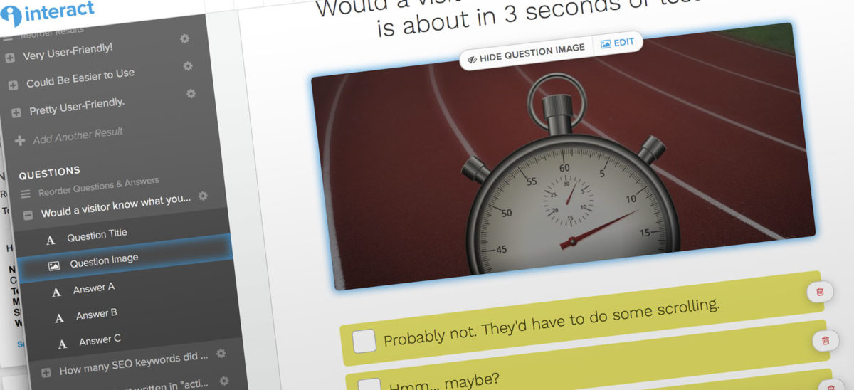 You want to make a web quiz? You need to try Interact!